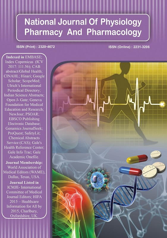 National Journal of Physiology, Pharmacy and Pharmacology